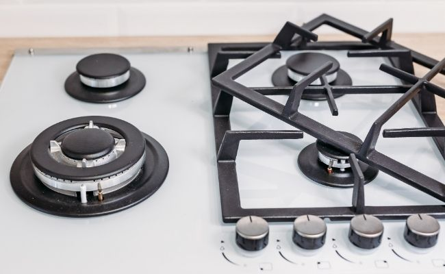 clean gas hob pan supports