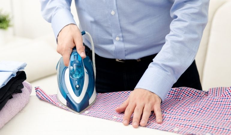 using a steam iron safely