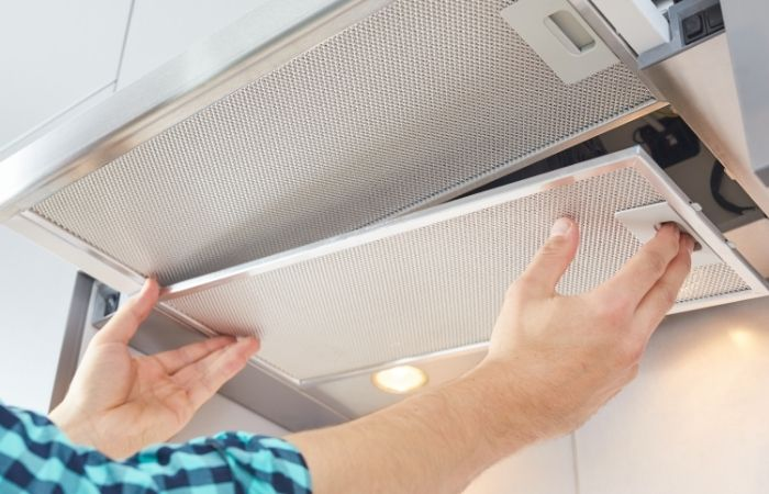 cooker hood grease filter removal