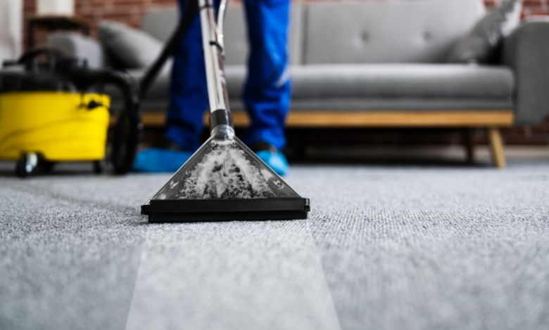using a rented carpet cleaner