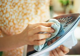 How to Clean a Steam Iron Soleplate